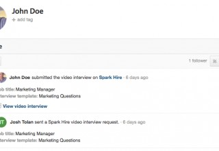 View Spark Hire Video Interviews in Workable